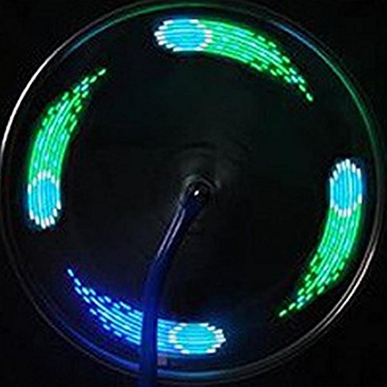 ログジャグリング脳イルミネーション 夜の街をチャリンコで照らせ!自転車タイヤ用LEDライト 時間経過で模様が変わる IPX5 電池駆動