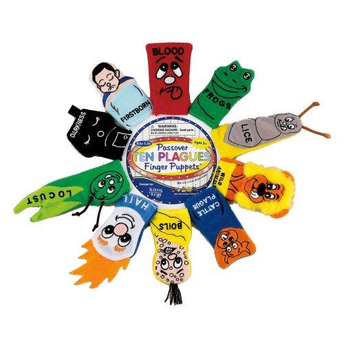 Rite-Lite Judaic Plush Passover Finger Puppets, Set of 10