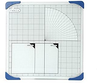 TONIC STUDIOS TGM465 Tempered Glass Cutting Mat with Measuring Grid, 12 by 12