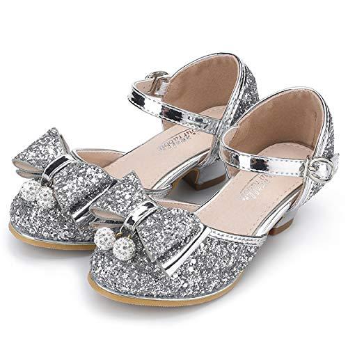 YOSICIL Niña Bailarina Zapatos de Tacón Zapatillas de Fiesta Disfraz de Princesa...