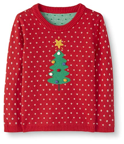 Moon and Back Holiday Sweater pullover-sweaters, rot, 18-24 Monate (77-82 CM)