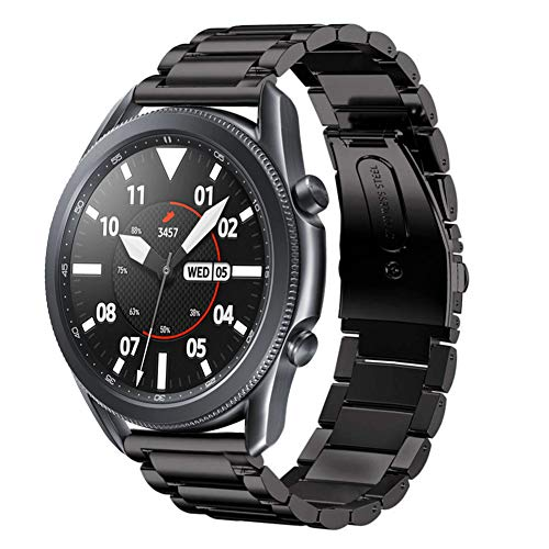 SUNDAREE Kompatibel mit Galaxy Watch 3 Armband 45MM22MM Uhrenarmband Edelstahl Armband Ersatz Metallarmband fur Samsung Galaxy Watch3 45MM SM R840Huawei Watch GT2 46MMAmazfit GTR 47MM45 Schwarz