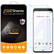 (2 Pack) Supershieldz for Google Pixel 4 Tempered Glass Screen Protector, Anti Scratch, Bubble Free