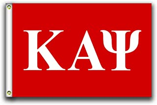 MCCOCO Kappa Alpha Psi Letter Flags Banner 3X5FT-90X150CM 100% Polyester,Canvas Head with Metal Grommet,Used Both Indoors and Outdoors