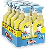 Mastro Lindo Spray Detergente Multiuso Limone 10 Pezzi, Maxi Formato 10 x 500 ML