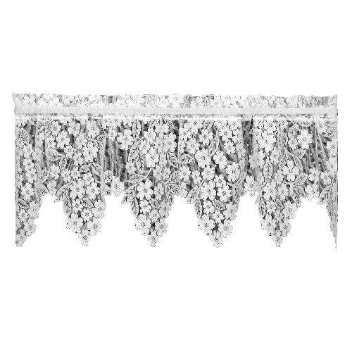 Heritage Lace Dogwood 55-Inch by 18-Inch Drop Ecru Valance