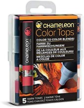 Chameleon Art Products Color Tops, Warm Tones 5-Pen Set
