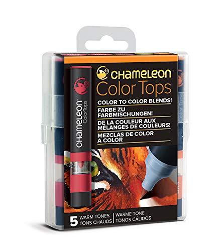 Chameleon Art Products - 5 Color Tops; Puntas de mezcla Chameleon; Tonos Calidos
