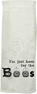 Twisted Wares I'm Just Here for the Boos Halloween Tea Towel