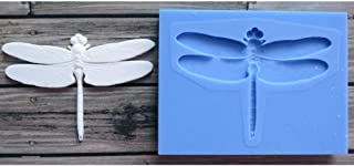 Dragonfly Flower Silicone Mold for DIY Soap Mould Gum Paste Crystal Fondant Mold Candy Jelly Shots Desserts Chocolate Handmade Ice Cream Cupcake Cake Topper Decoration Ice Cube Pudding