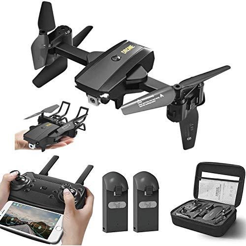 A9 Drone Optical Flow Positioning RC Quadcopter with 1080P HD Camera, Altitude Hold Headless Mode, Foldable FPV Drones WiFi Live Video 3D Flips 6axis RTF Easy Fly Steady for Learning White