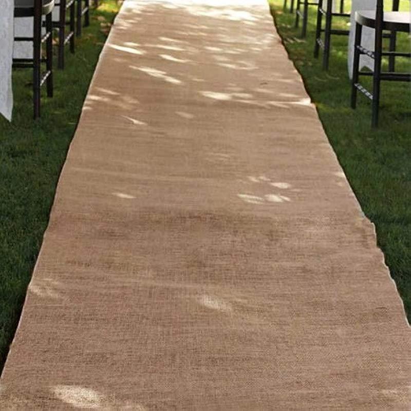 Burlap Wedding Aisle Runner 36 Inch X 100 Ft Rustic Natural