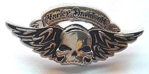 Metall Biker Anstecker skull & Wings Bike Badge chrom Finish–Hog Chopper Bobber