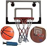 LYX Mini Cubierta de Baloncesto aro de Montaje en Pared Set - Aro de Baloncesto con la Bola y de la Bomba de Oficina, Dormitorio y Home, Gran Regalo for los Amantes del Baloncesto