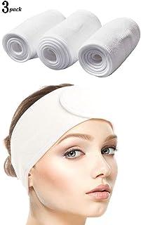 comprar comparacion Queta pelo banda para maquillaje, cosméticos cinta Rizo, ajustable pelo – Banda con velcro 3pcs (Blanco)