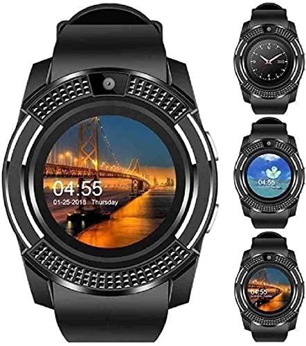 Mano Reloj Reloj reloj reloj hombres mujeres bluetooth smartwatch compatible con pantalla completa tarjeta sim tf smartwatch teléfono ritmo cardíaco deportes relojes de pulsera Relojes Decorativos Cas