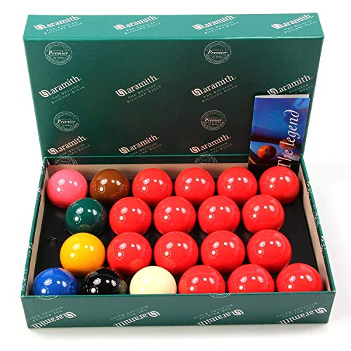 Aramith Belgian Premier Snooker Balls 2 1/4 inch - No Numbers - Free US Shipping