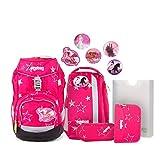 Ergobag Pack CinBärella - Pink, ergonomischer Schulrucksack, Set 6-teilig, 20 Liter, 1.100 g, Pink