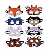 U&X Tiermasken Filz Tier Masks Halloween Maske Bauernhof-Tiere 8 Stück Ideal zum Kindergeburtstag...