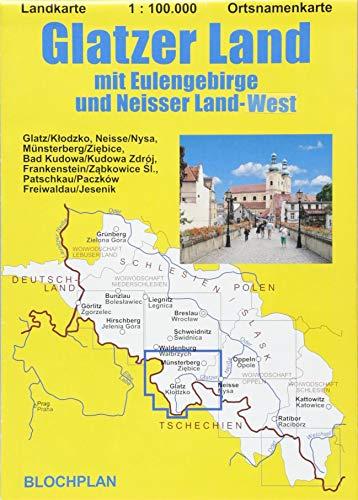 Landkarte Glatzer Land: mit Eulengebirge und Neisser Land West; im Maßstab 1:100.000 (Schlesien-Landkarten)