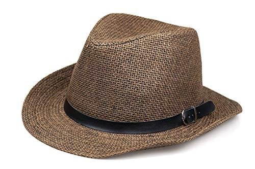 good-girl Quicksilver cappello di paglia donna estate fresco tessuto di paglia Fedora copricapo & elegante cappello da sole Band-Costume Colore unico Taglia unica