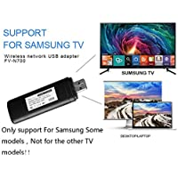 Bebester - Adaptador inalámbrico USB para TV (300 Mbps, 2,4-5 GHz, WIS12ABGNX WIS09ABGN, Adaptador inalámbrico WiFi LAN, Adaptador USB para Samsung Smart TV 802.11 A/B/G/N)