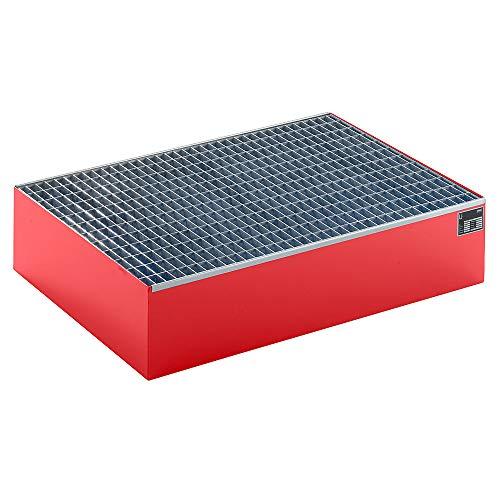 QUIPO Paletten-Auffangwanne - LxBxH 1200 x 800 x 260 mm, mit Gitterrost - QUIPO-Auffangwannen QUIPO-Auffangwannen QUIPO-Auffangwannen QUIPO-Auffangwannen QUIPO-Auffangwannen QUIPO-Auffangwannen