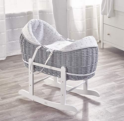 Sleepy Little Owl Grey Pod with White Rocking Stand and Sleepy Little Owl Textile Bundle