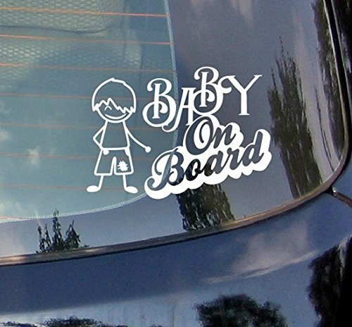 Baby On Board???Gar?on, enfant, Petit Gar?on Sport C?ur enfants Autocollant de voiture Drift Bumper fen?tre de voiture en vinyle dr?le van pour ordinateur portable C?ur D?cor Home Live enfants Funny Art mural Decal Stickers