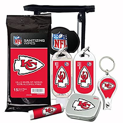 10% OFF—NFL 6-Piece Fan Kit with Decorative Mint Tin, Nail Clippers, Hand Sanitizer, SPF 15 Lip Balm, Hand Lotion, Sanitizer Wipes. Gifts for Men and Women By Worthy