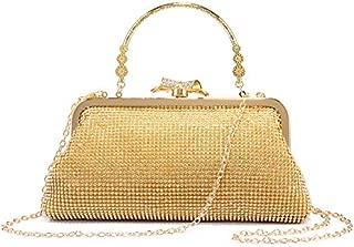 LOVEVOOK Women Evening Bag Clutch Handbags Purse for Wedding with Rhinestones