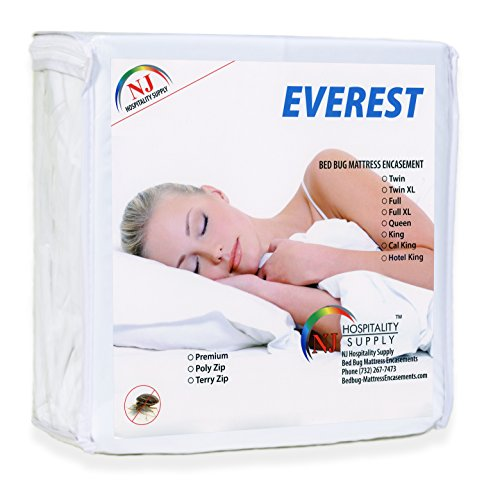 Everest Supply Premium Mattress Encasement Waterproof Bedbug Proof Hypoallergenic Zippered Protector 6 Sided Cover Machine Washable Twin Size Sofa 35 by 72 inches Fits 5-7 inch Depth