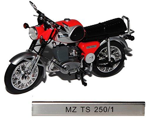 Unbekannt MZ TS 250/1 Rot DDR Atlas Collection 1/24 Modellcarsonline Modell Motorrad mit individiuellem Wunschkennzeichen