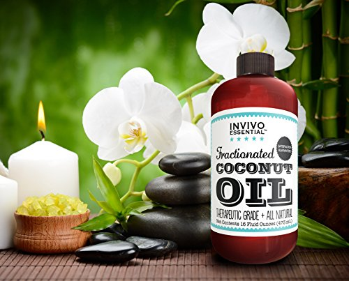 Fractionated Coconut Oil Premium Therapeutic Grade 16 Ounce Liquid Carrier Oil for Aromatherapy Relaxing Massage and Diluting Essential Oils with Pump and eBook