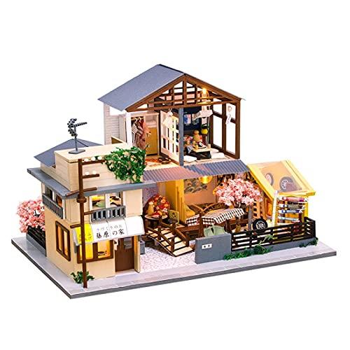 NIKALONG Muebles De Madera Modernos, Mini - Casa De MuñEcas, Casa De MuñEcas DIY, Casa De MuñEcas Hecha A Mano, Rompecabezas, Sala De Juegos Modelo Creativo, DíA De La Novia (SueñO)