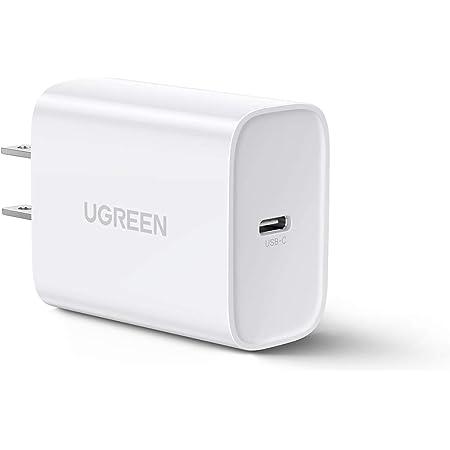 UGREEN PD 3.0 Cargador USB C 30W, Cargador Tipo C para iPhone 12 11 Pro MAX XS MAX XR X 8 Plus, iPad Pro, Google Pixel 3a XL, Galaxy Note10 S10 + S9, LG V50 ThinQ 5G G8X y Mas