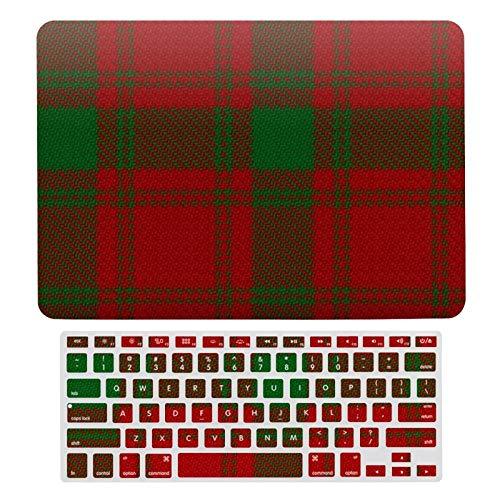 Carcasa rígida para MacBook Air 13 A1466, A1369, funda rígida y teclado para Apple Mac Air 13, Clan Macquarrie Classic Red Green Scottish Tartan Laptop.