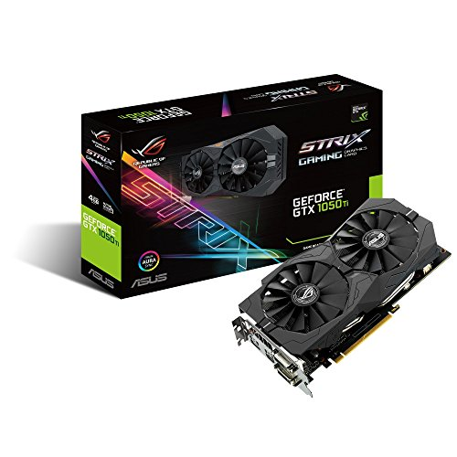 ASUS Geforce GTX 1050Ti 4GB ROG Strix OC Edition HDMI 2.0 DP 1.4 Gaming Grafikkarte GTX 1050 TI