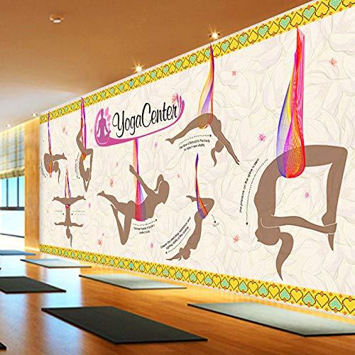 WLPBH Fotomural Autoadhesivo 3D Estudio De Yoga Aéreo Figura Pintura Villano (W) 300X (H) 210Cm3D Fotomural Niños Decoración De La Habitación De Los Niños Fondo Papel De Pared Niño Niña Dormitor