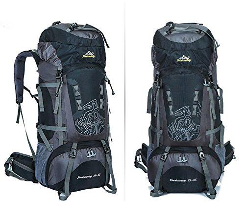 Nouveau sac d'alpinisme extérieur professionnel voyage cadre extérieur imperméable de sac à dos du sac à dos grande capacité , black