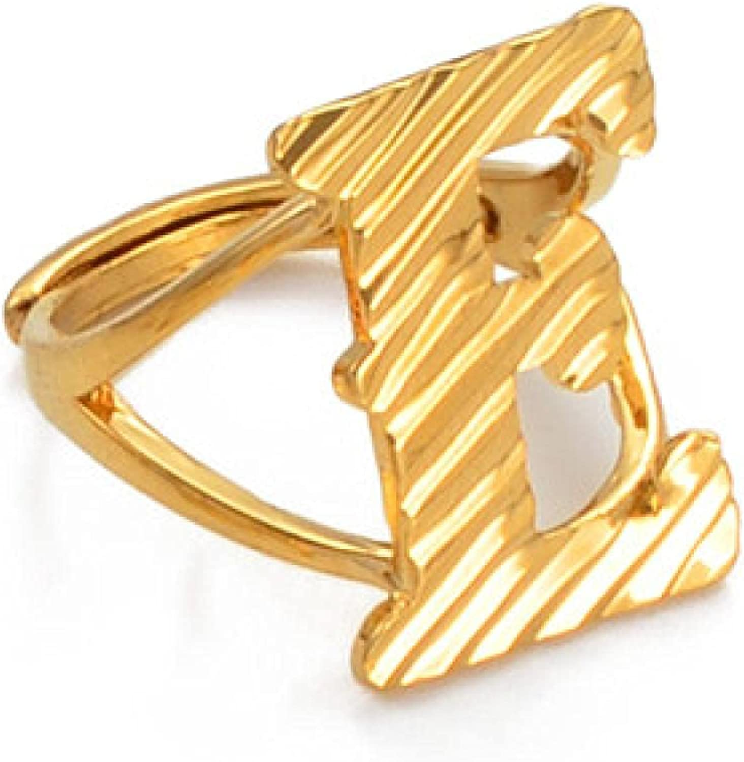 Letters Ring Women Girl Gold Resizable Color Free Shipping Cheap Bargain Gift Free Shipping Cheap Bargain Gift Rings Initial Engli