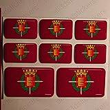 Pegatinas Valladolid España Resina, 8 x Pegatinas Relieve 3D Bandera Valladolid España Adhesivo Vinilo