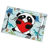 Set di 6 Tovagliette All'Americana,Antiscivolo,Lavabili,in PVC,Panda Giocosi,Resistenti al Calore,Resistenti Allo Sporco e Lavabili,per La Cucina e La Tavola