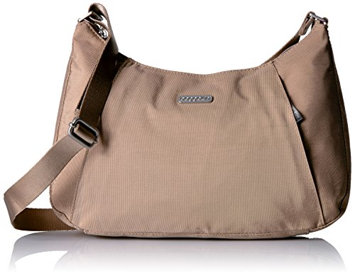 Attain casually fresh style with this cool Slim Crossbody Hobo bag. Made of lightweight water-resistant nylon. Zipper closure. Adjustable crossbody strap. Exterior front zip pockets. Exterior back slip pocket.  Signature logo engraved hardware detail...