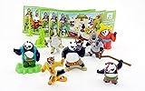 Kinder Überraschung, Kung Fu Panda 3 - Figuras de película con folleto de todos los ejemplos...