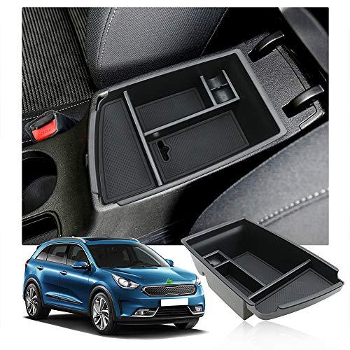 LFOTPP Niro Apoyabrazos Consola Central Bandeja, Caja de Almacenamiento Organizador coche Interior Accesorios