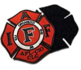 Authentic Classic Red IAFF UNION 3.75' Embroidered (hook/loop) Uniform Patch