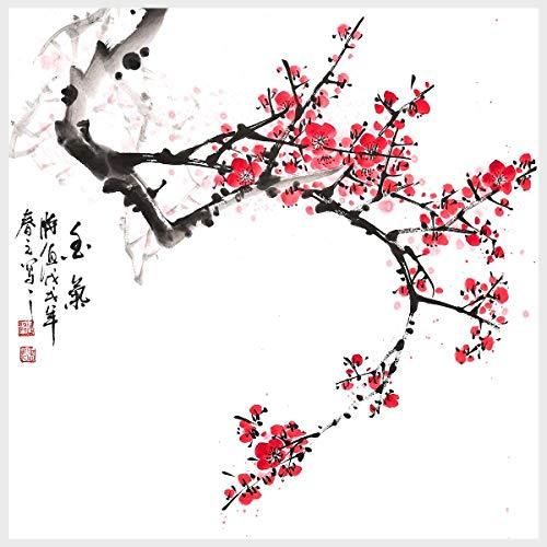 Romacci Pintura Tradicional Chinesa Fragrância Flor de Ameixa Pintura Arte de Parede para Sala de Estar Decoração de Casa Decoração de Casa