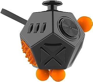 JPDream Fidget Cube ストレスを解消し12-Side Fidget Toys (ブラック)