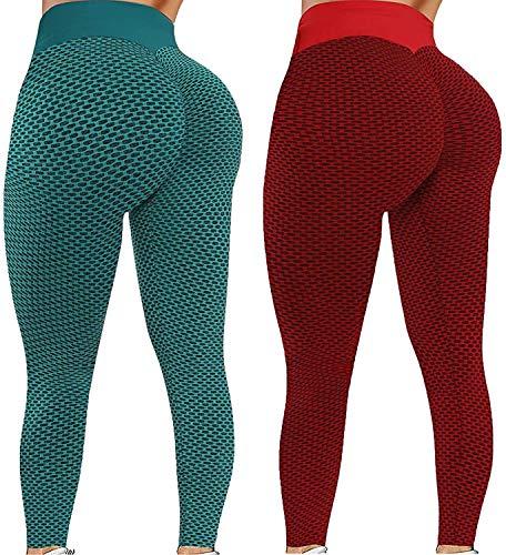 xiaogui Mallas de Deporte de Mujer, Leggins Pantalon Deporte Yoga, Leggings Mujer Fitness Suaves Elásticos Cintura Alta para Reducir Vientre